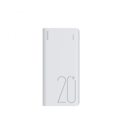 Romoss Sense6+ 20000mAh QC Type-C Power Bank - White
